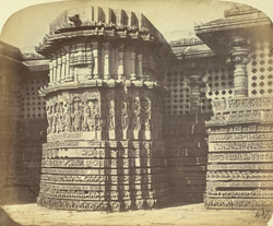 Projection to the east, Hoysalesvara Temple, Halebid
